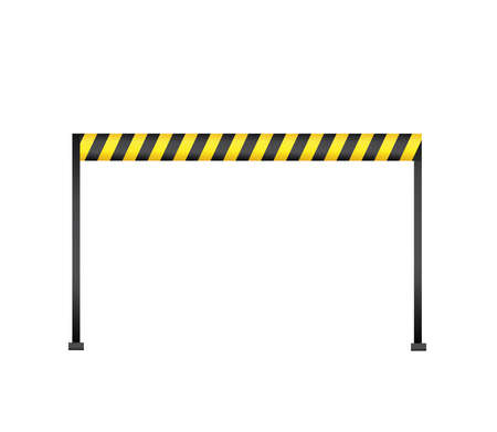 symbol victim: Police tape marking the place of crime Illustration