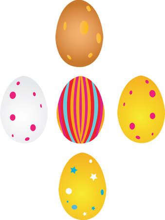 Four diffrent coloured easter eggs Stock Vector - 3137262