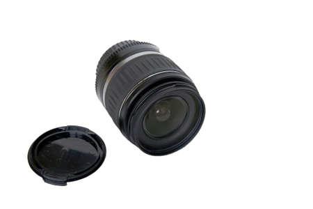 Photo lens isolated on white Stock Photo