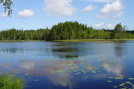 Perfect lake in one of Scandinavian countries