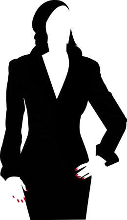 Silhouette of a woman with red nails Illustration