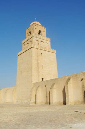 kairouan: Great mosque in Kairouan  in Tunisia                             Stock Photo