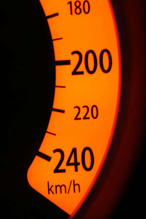 Maximum speed limit on the speedometer