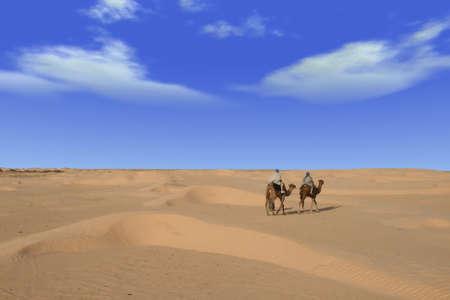 Riding through african desert