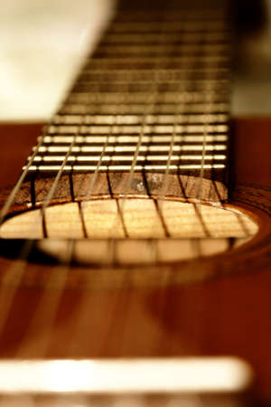 Stylish guitar photo shot in brown colors