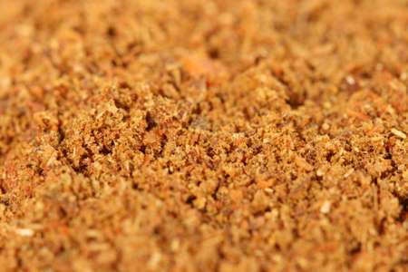 Macro photo of brown spice
