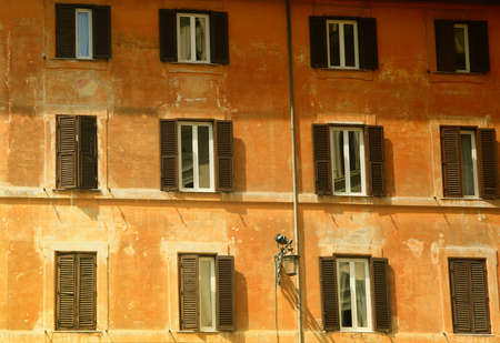 Wall of a house in Florence Stock Photo