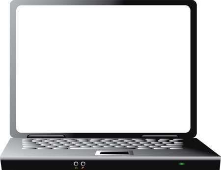 Vector image of simple laptop