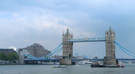 Tower bridge on river Thames in London  Stock Photo