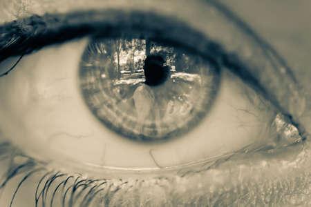 Beautiful eye of  a girl Stock Photo