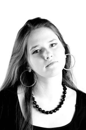 Attractibe girl closeup portrait Stock Photo