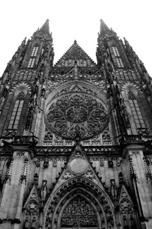 View of Saint Vitus Cathedral in Prague Stock Photo