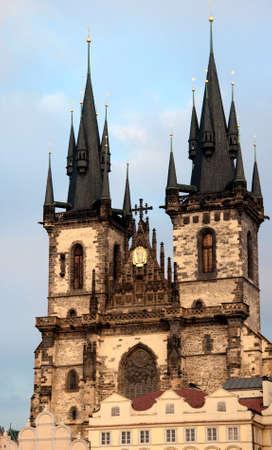 Kostel Panny Marie pred Tynem Tynsky temple. Prague.