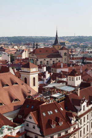 Roofs of Prague Stock Photo