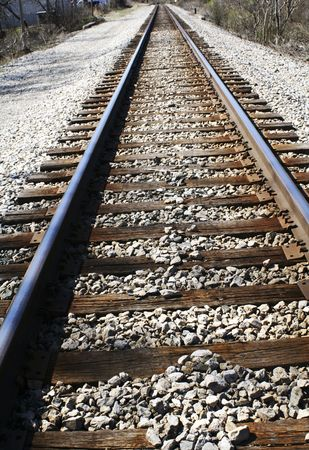 railroad tracks with copyspace