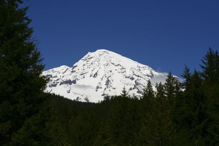 mt: Mt. Rainier Stock Photo