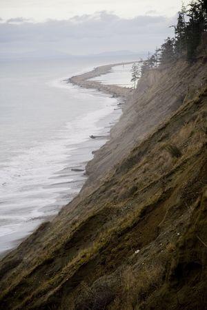 strait of juan de fuca: The Dungeness Spit in Winter