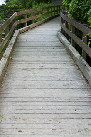 A wooden walkway or bridge photo