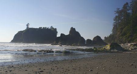 Ruby beach on a beautiful day photo