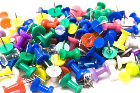 push: Pile of push pins Stock Photo