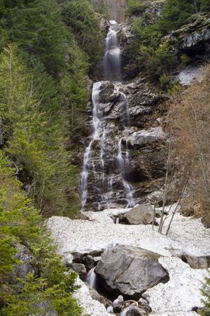 pacific northwest: A pacific northwest waterfall in early spring