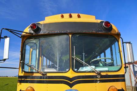 school bus front window Stock Photo - 2985752