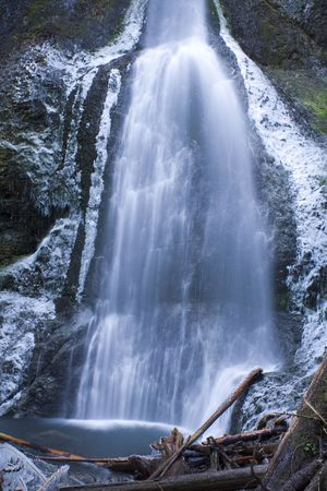 calmness: A Waterfall in Olympic National Park in Winter