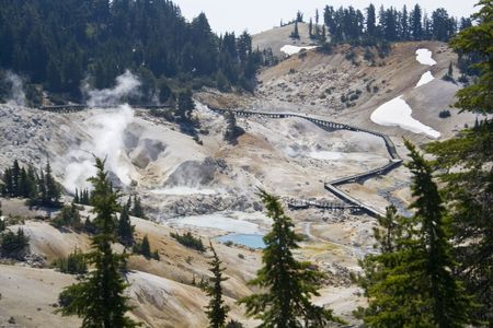 Bumpass Hell, a sulfuric hydrothermal area in Lassen Volcanic National Park