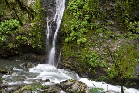 Feature Show Falls in the northern Cascade mountains Imagens - 3408674