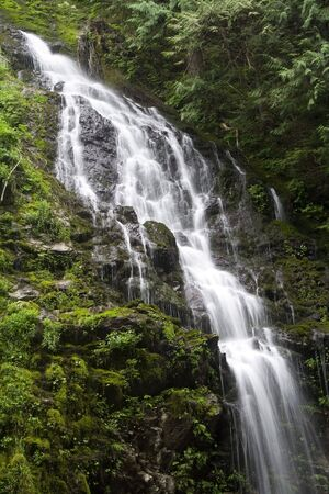 Feature Show Falls in the northern Cascade mountains