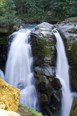 Nooksack Falls in den n�rdlichen Cascade Mountains
