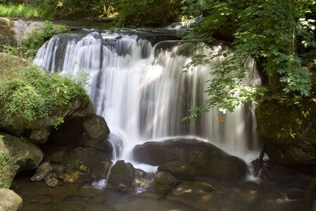 Whatcom Falls in the Pacific Northwest Stock Photo