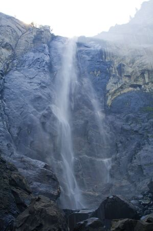 A beautiful waterfall in Yosemite National Park