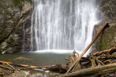 Marymere Falls in sports competition National Park in Summer Stock Photo