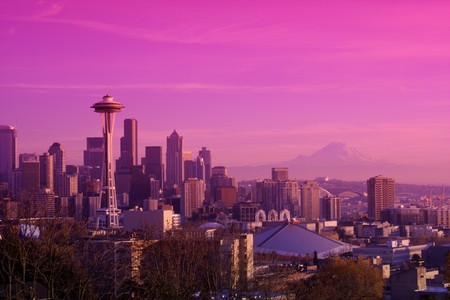 Downtown Seattle on a beautiful fall day Stock Photo - 4351719