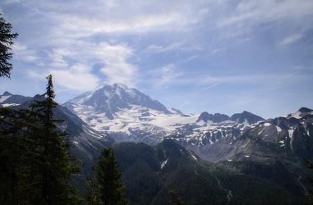 Mt. Rainier on a summer day