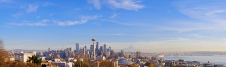 Downtown Seattle on a beautiful fall day Stock Photo - 4383538