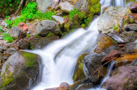 A beautiful waterfall in Mt. Rainier National Park