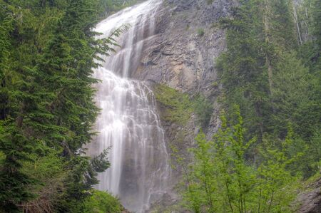 Spray Falls in Mt. Rainier National Park