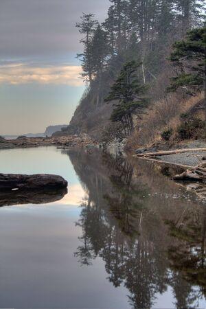 A Pacific Coast Beach near sunset 免版税图像 - 4694625