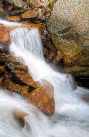 レーニア山国立公園の美しい滝 写真素材