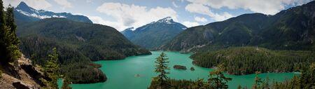El Diablo Lake in the North Cascades Stock Photo