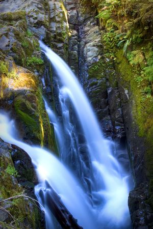 sol duc: Sol Duc Falls in Olympic National Park Stock Photo