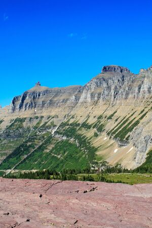 divide: Part of the continental divide in Glacier National Park, Montana Stock Photo