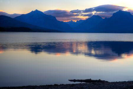 mcdonald: Sunrise at Lake McDonald in Glacier National Park, Montana