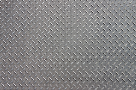 A diagonal pattern on gray metal
