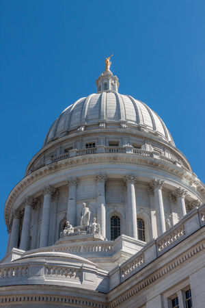 madison: The capital building in Madison, Wisconsin Stock Photo