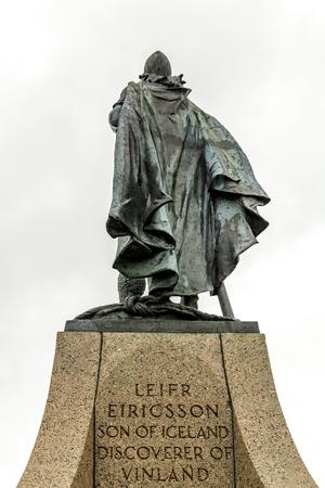 ericsson: A sculpture of the Viking explorer Leif Ericsson in Reykjavik, Iceland
