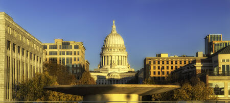 The capitol building in Madison, Wisconsin Editorial