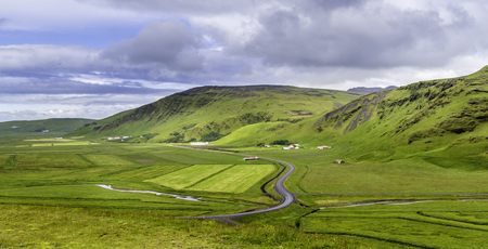 mountain view: A panoramic view of the Icelandic countryside Stock Photo